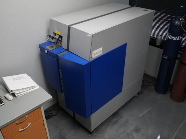 Aluminum samples analyzed with atomic spark spectroscopy.