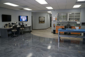 Our open floor plan is designed to expedite test specimens from one set of test instruments to the next.